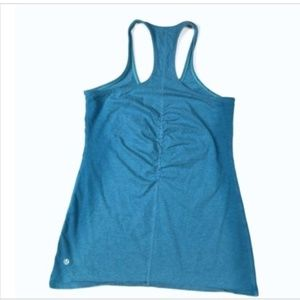 Lululemon 10 Medium Ruched Racerback Logo Tank Top